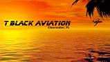 T Black Aviation Logo